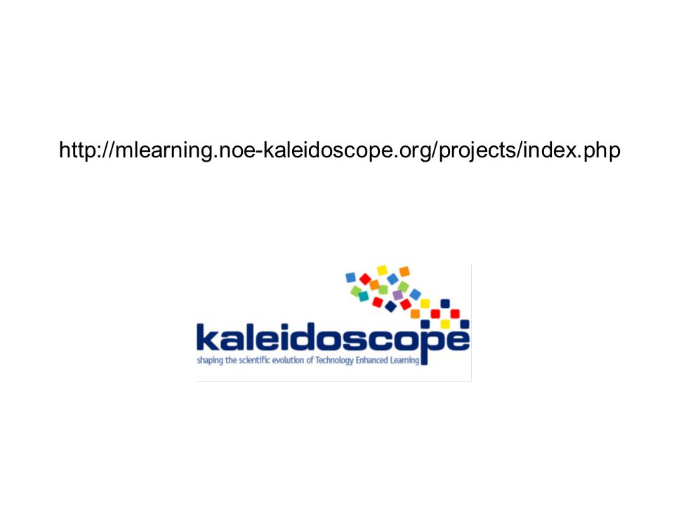 http://mlearning.noe-kaleidoscope.org/projects/index.php