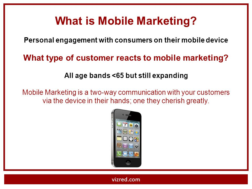 vizred.com What is Mobile Marketing.