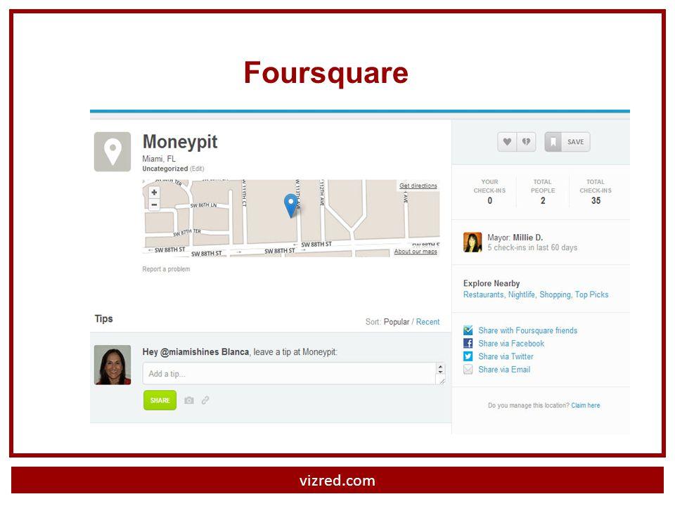 vizred.com Foursquare