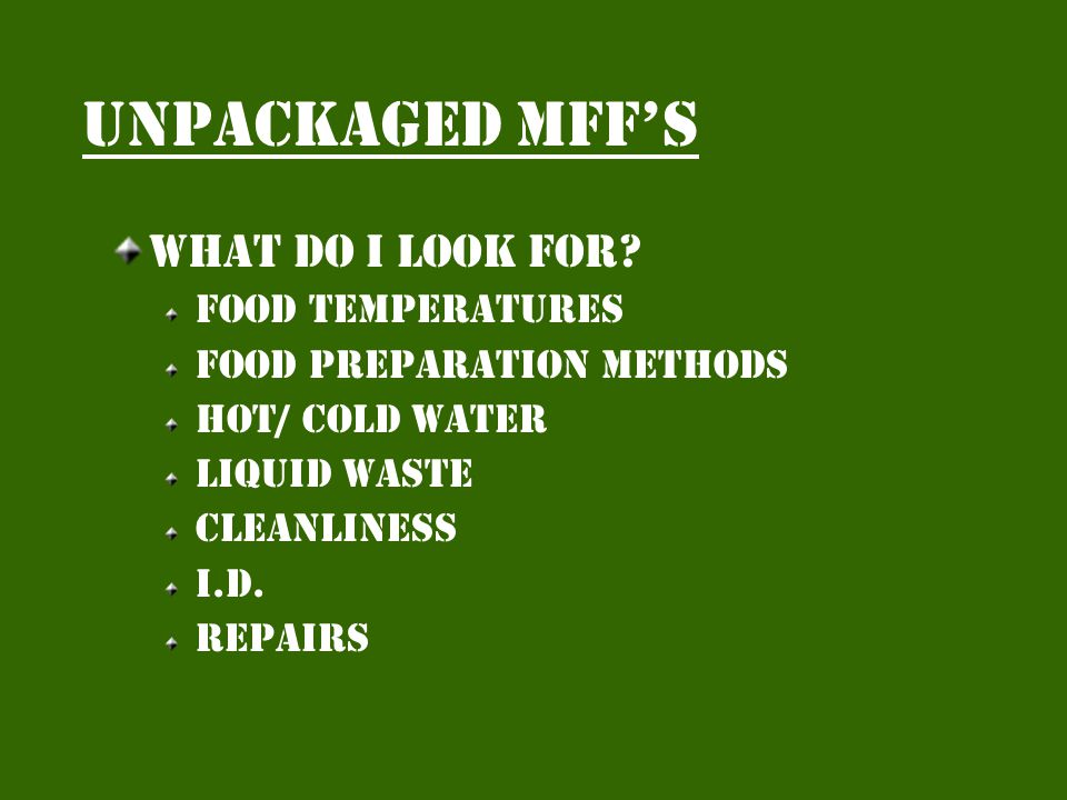 Unpackaged mffs Trends More occupied units New risk categories Packaged or unpackaged Enforcement