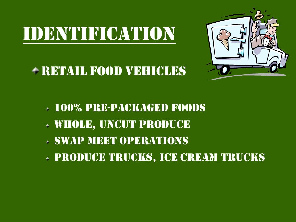 identification Mobile food preparation units Unlimited menu Full service fair wagon or mfpu Special events only H.c.d.