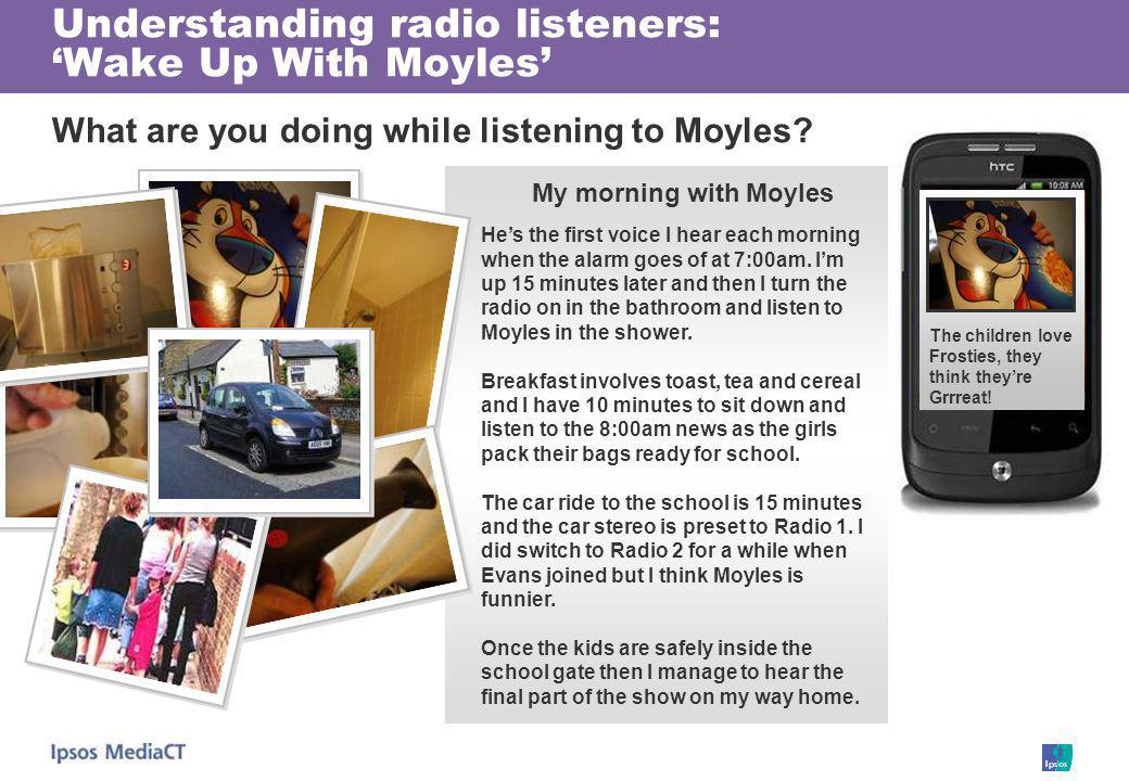 Understanding radio listeners: Wake Up With Moyles What are you doing while listening to Moyles.