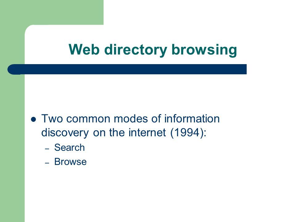 From Web directories to Local directory capsules