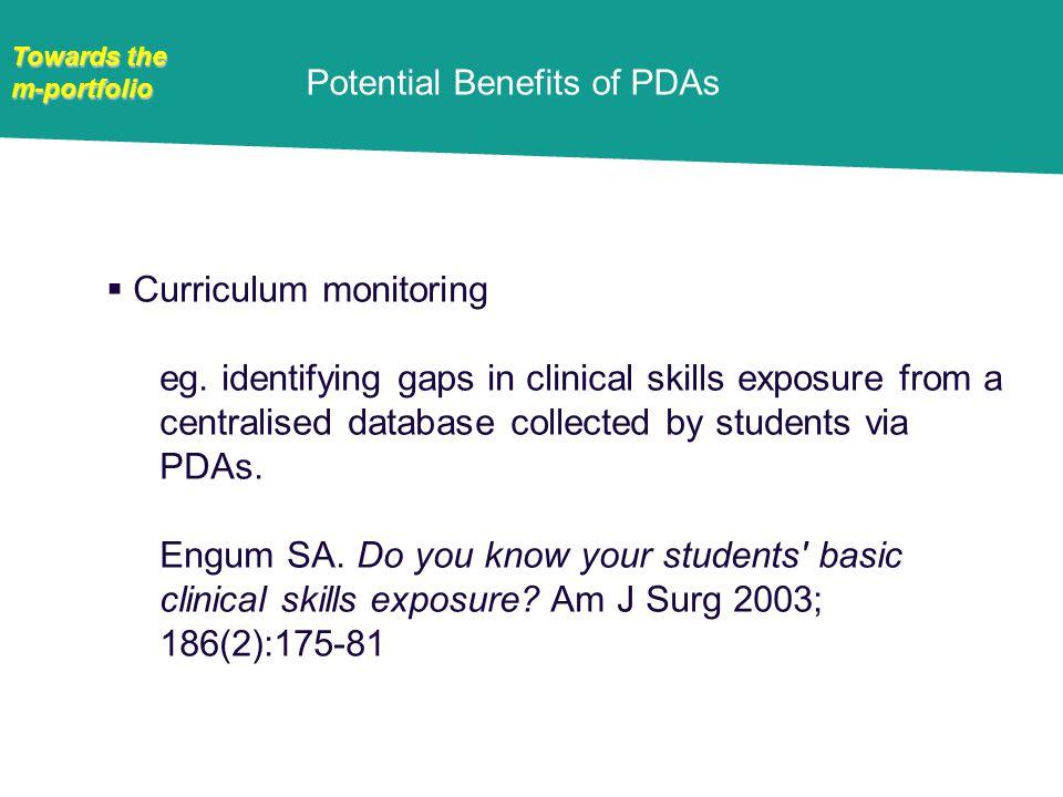 m-portfolio Curriculum monitoring eg.