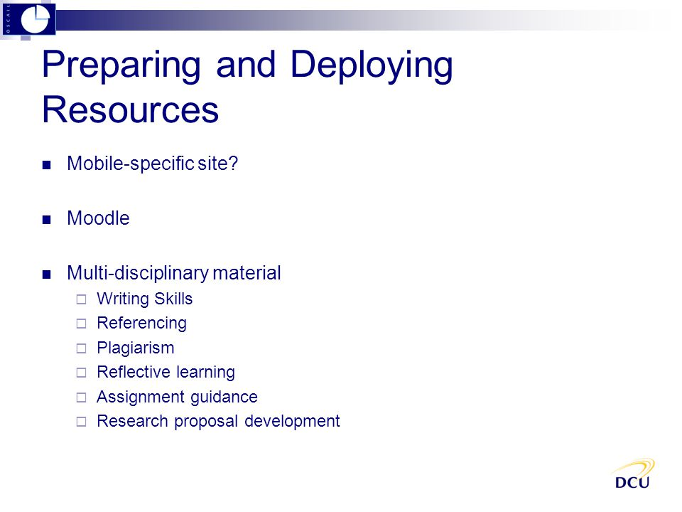 Preparing and Deploying Resources