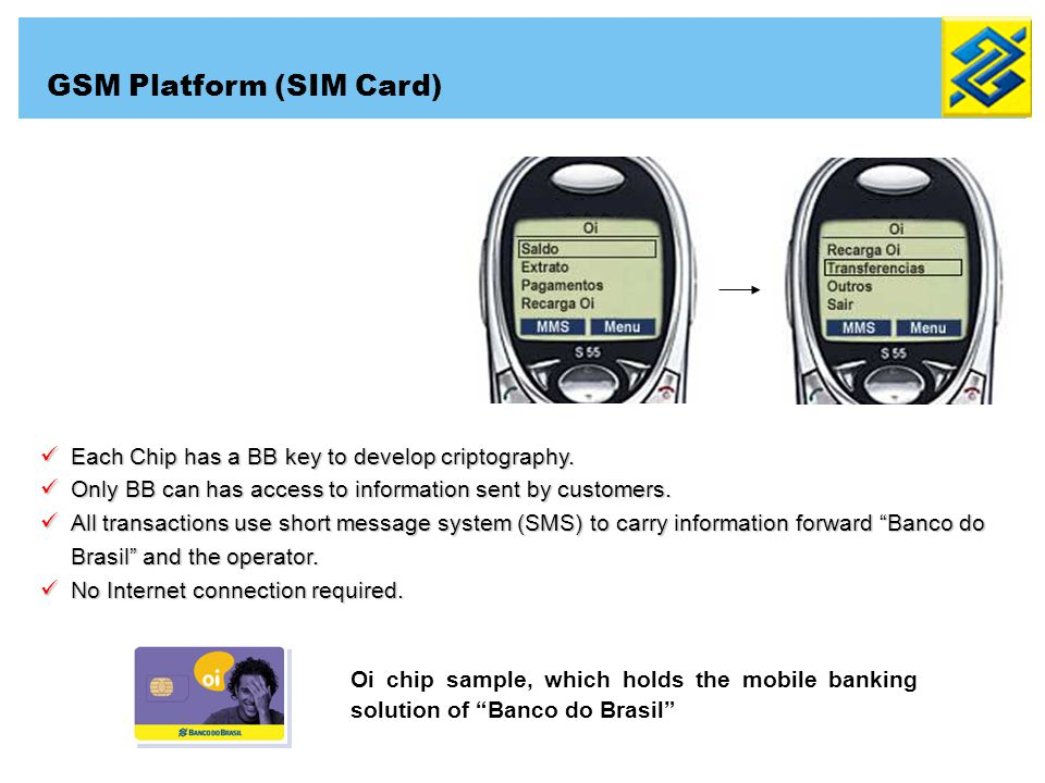 Each Chip has a BB key to develop criptography. Each Chip has a BB key to develop criptography. Only BB can has access to information sent by customer