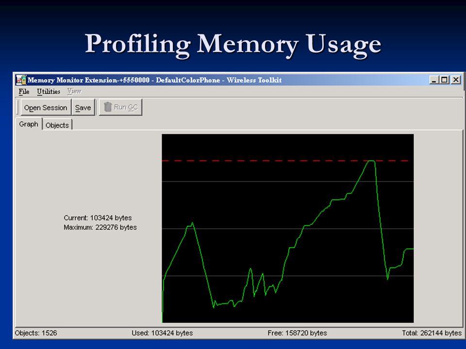 Profiling Memory Usage