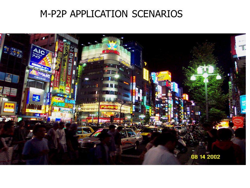 M-P2P APPLICATION SCENARIOS