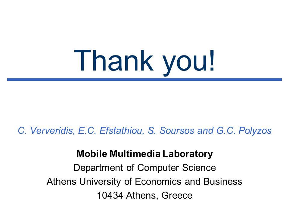 Thank you. C. Ververidis, E.C. Efstathiou, S. Soursos and G.C.