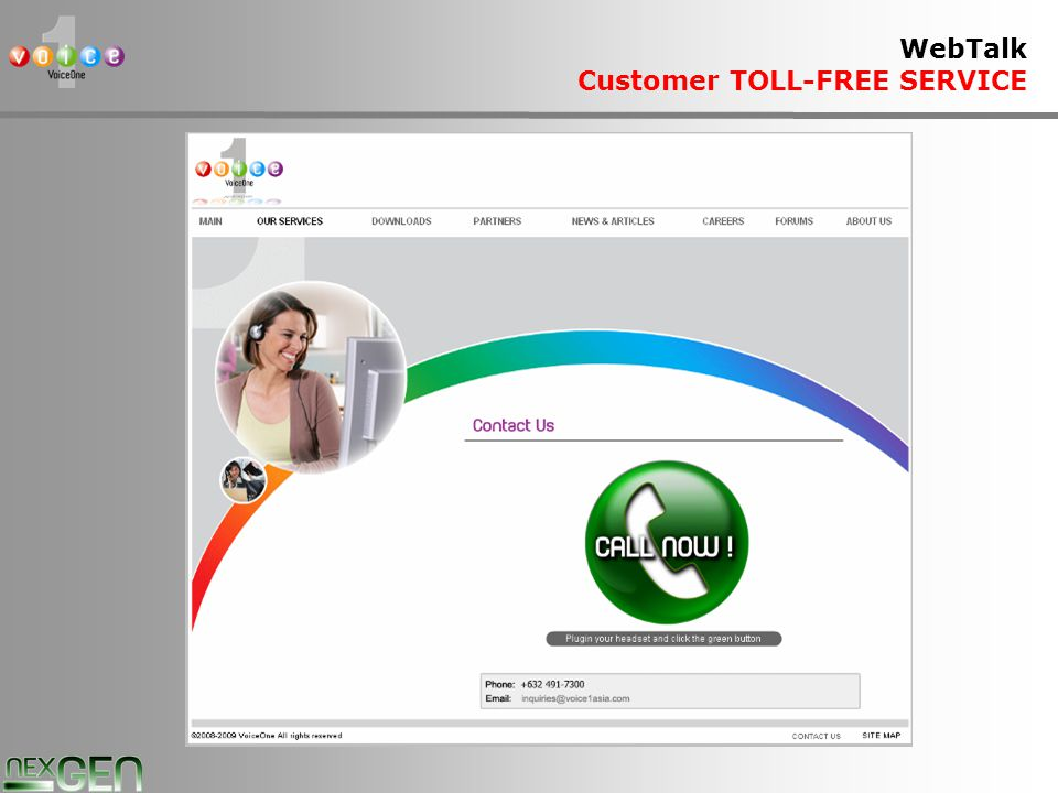 19 WebTalk Customer TOLL-FREE SERVICE