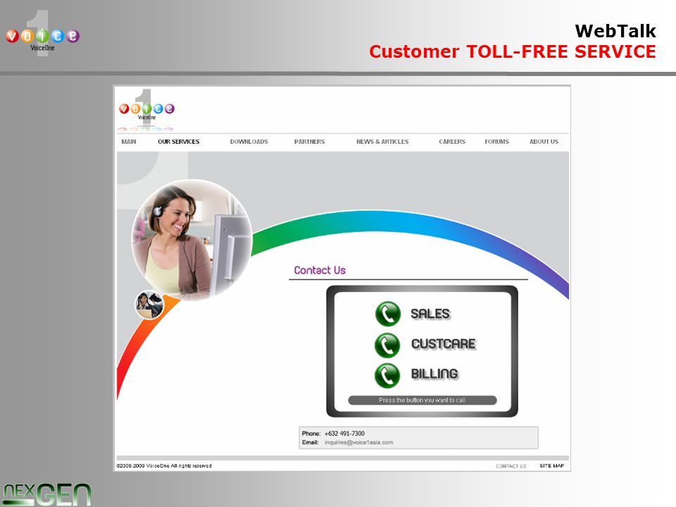 20 WebTalk Customer TOLL-FREE SERVICE