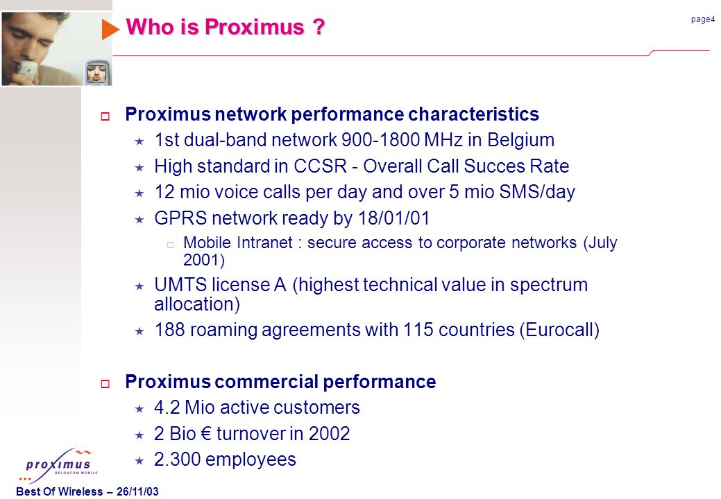 page4 Best Of Wireless – 26/11/03 Who is Proximus .