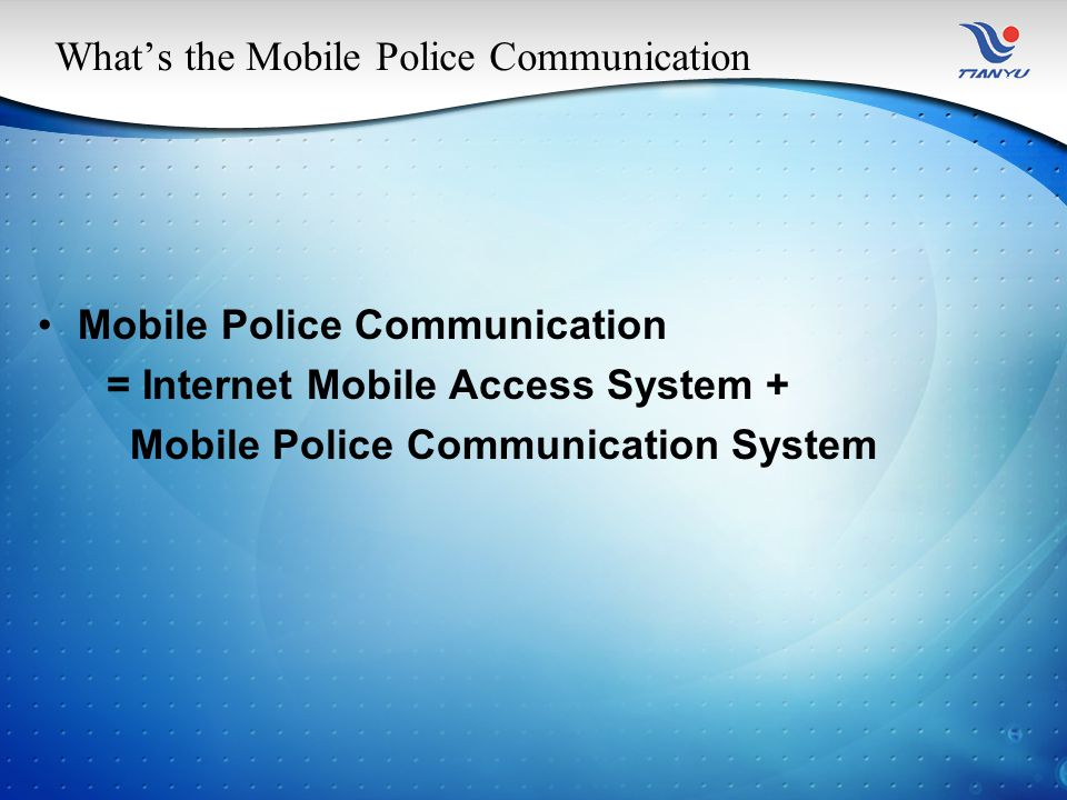 Three Mode of Mobile Police Communication Base on the approach of SMS to query.