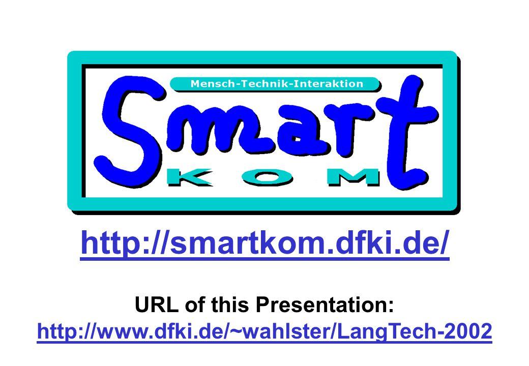 http://smartkom.dfki.de/ URL of this Presentation: http://www.dfki.de/~wahlster/LangTech-2002