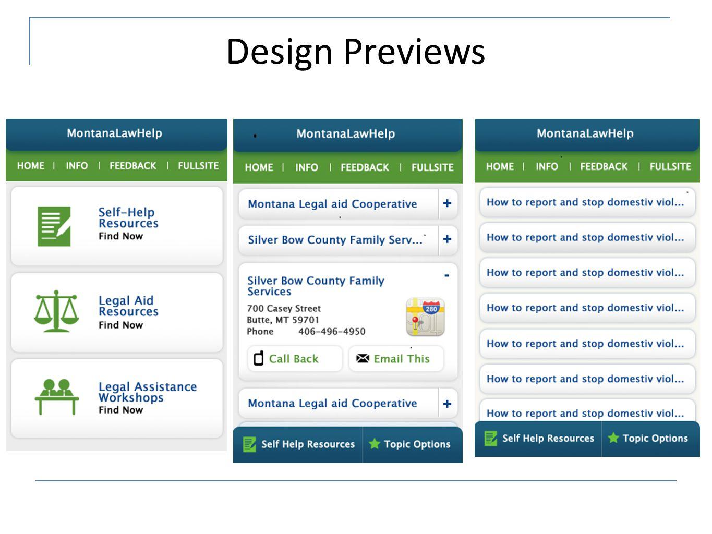 Design Previews
