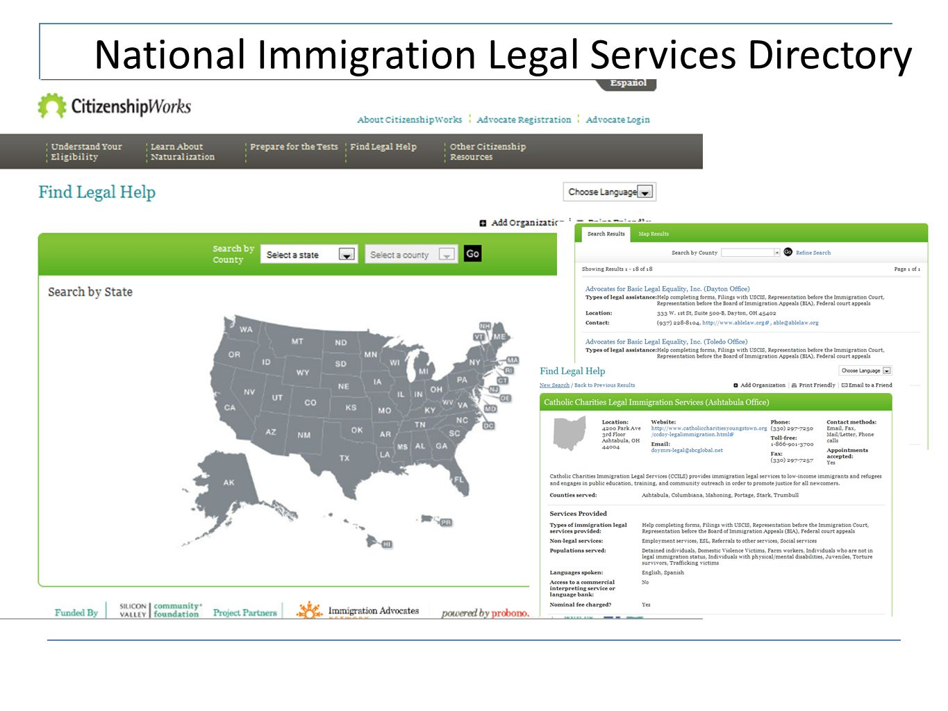 National Immigration Legal Services Directory