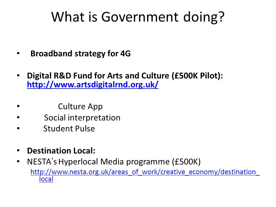 Digital R&D Fund for Arts and Culture http://www.youtube.com/watch?v=AZ-Tn0Lp8zk http://www.youtube.com/watch?v=AZ-Tn0Lp8zk