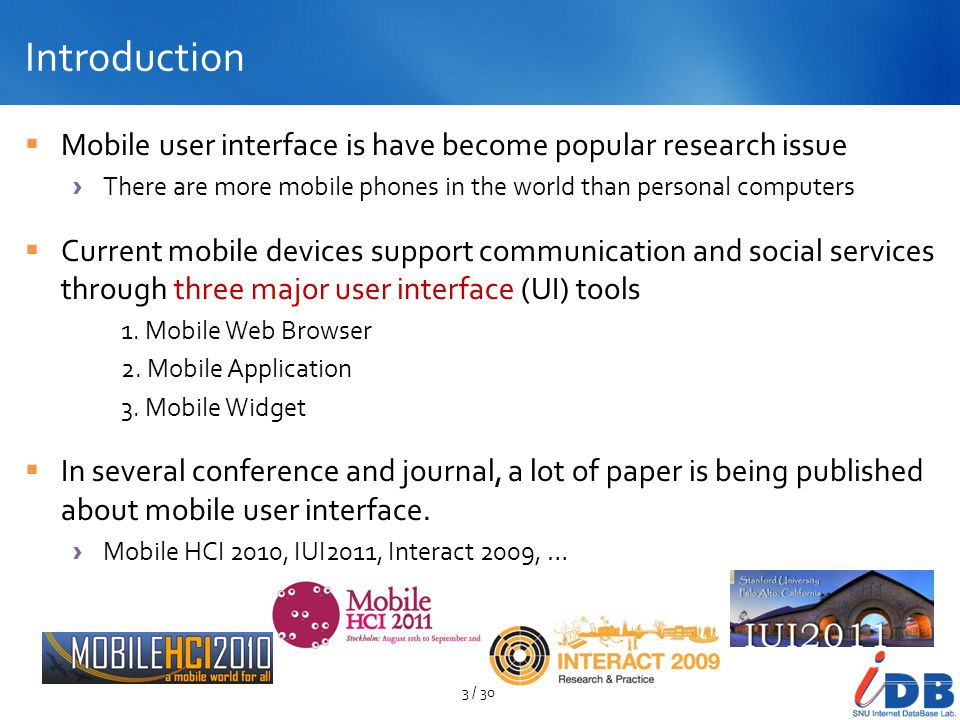 Mobile Web Browser UI Find This For me: Mobile Information Retrieval on the Open Web Search Results in a webpage Highlighted using dotted rectangle Each of them are presented using similar pattern 14 / 9