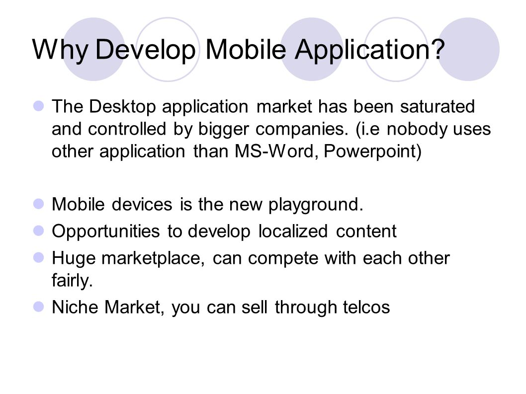 Why Develop Mobile Application.