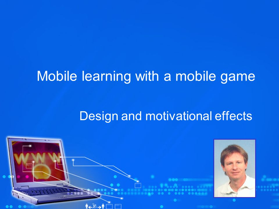 Mobile learning with a mobile game Design and motivational effects