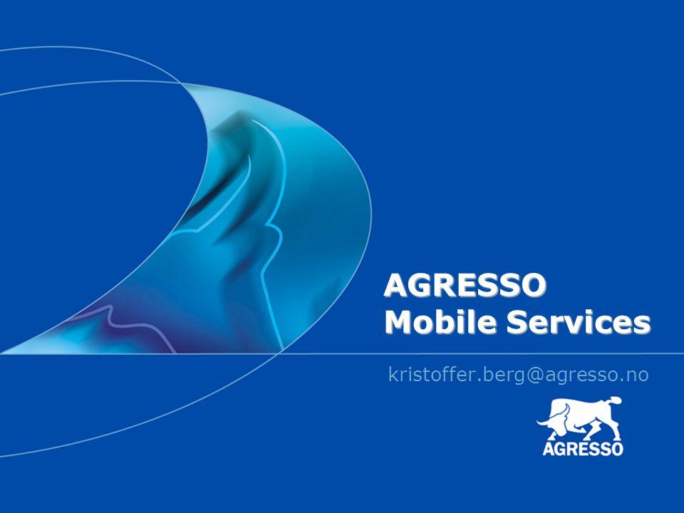 AGRESSO Mobile Services kristoffer.berg@agresso.no