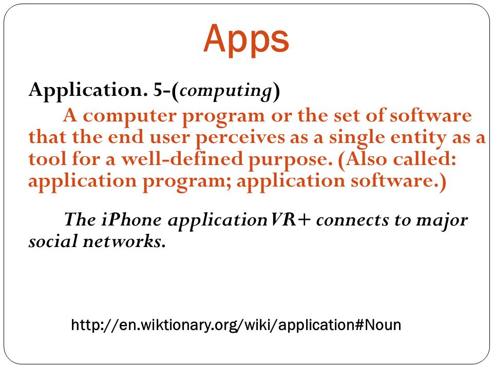 Apps Application.