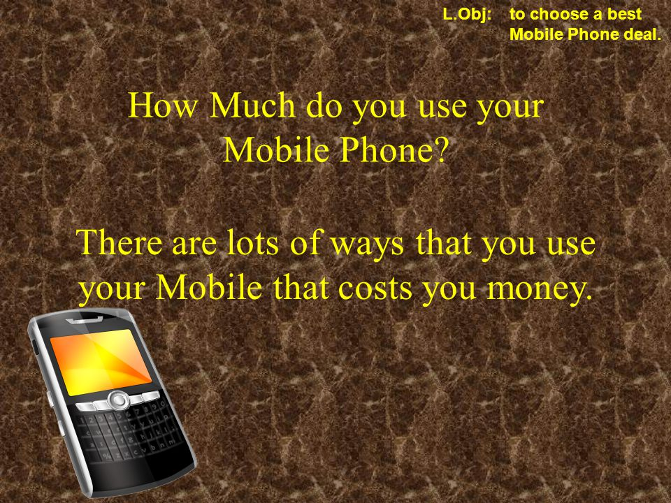 How Much do you use your Mobile Phone.