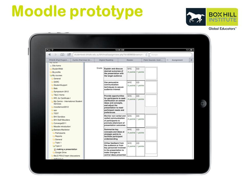 Moodle prototype