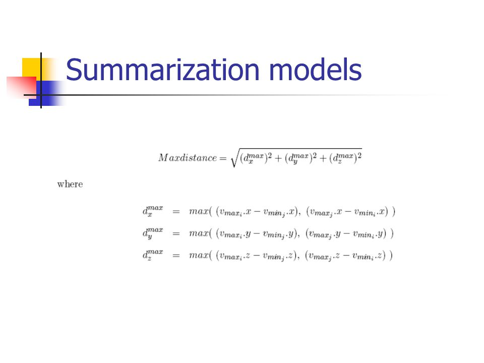 Summarization models