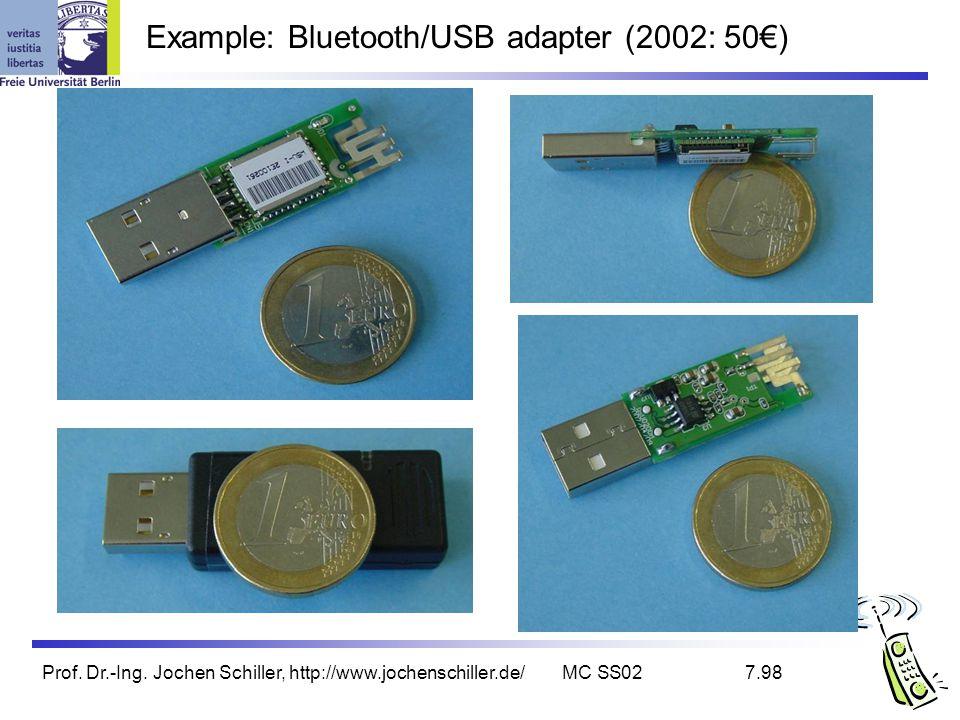 Prof. Dr.-Ing. Jochen Schiller, http://www.jochenschiller.de/MC SS027.98 Example: Bluetooth/USB adapter (2002: 50)