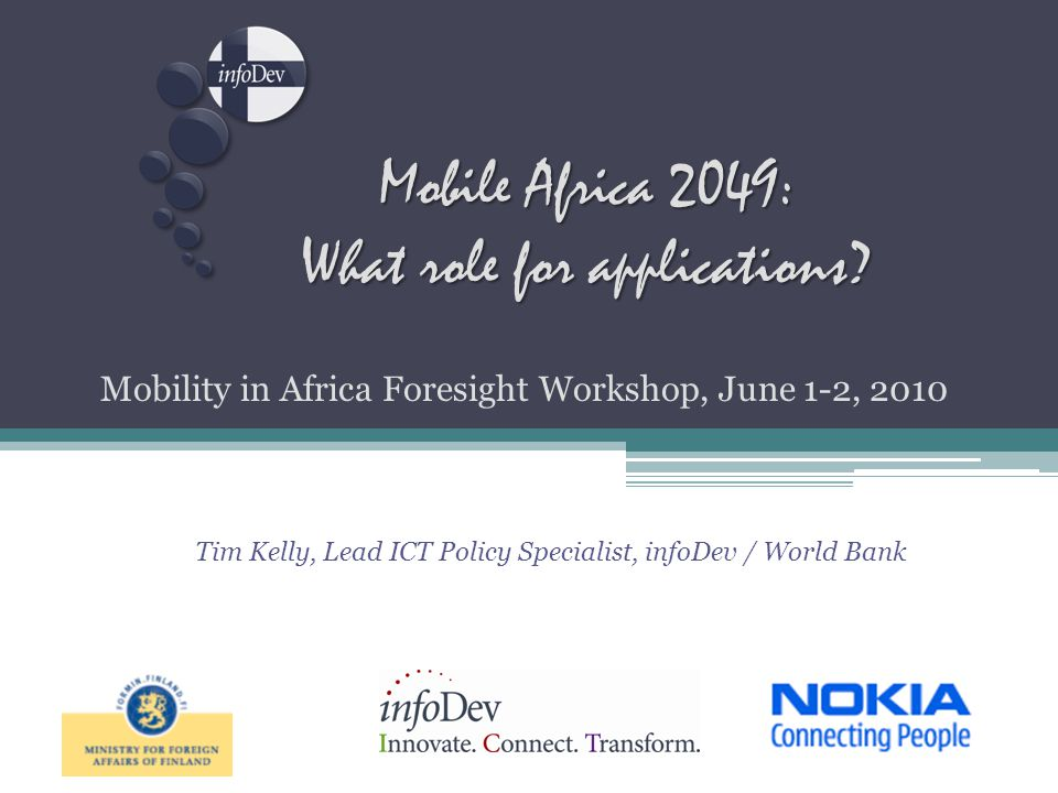 Mobile Africa 2049: What role for applications.
