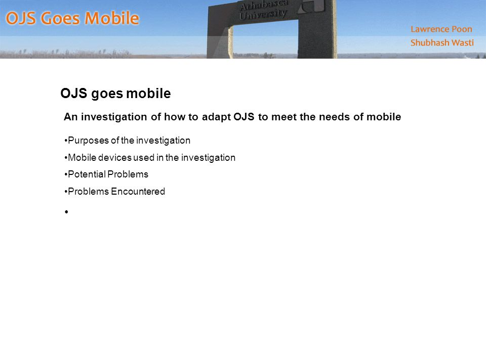 Mobile Plugin for OJS How it works.The plugin simply checks the user agents of accessing device.
