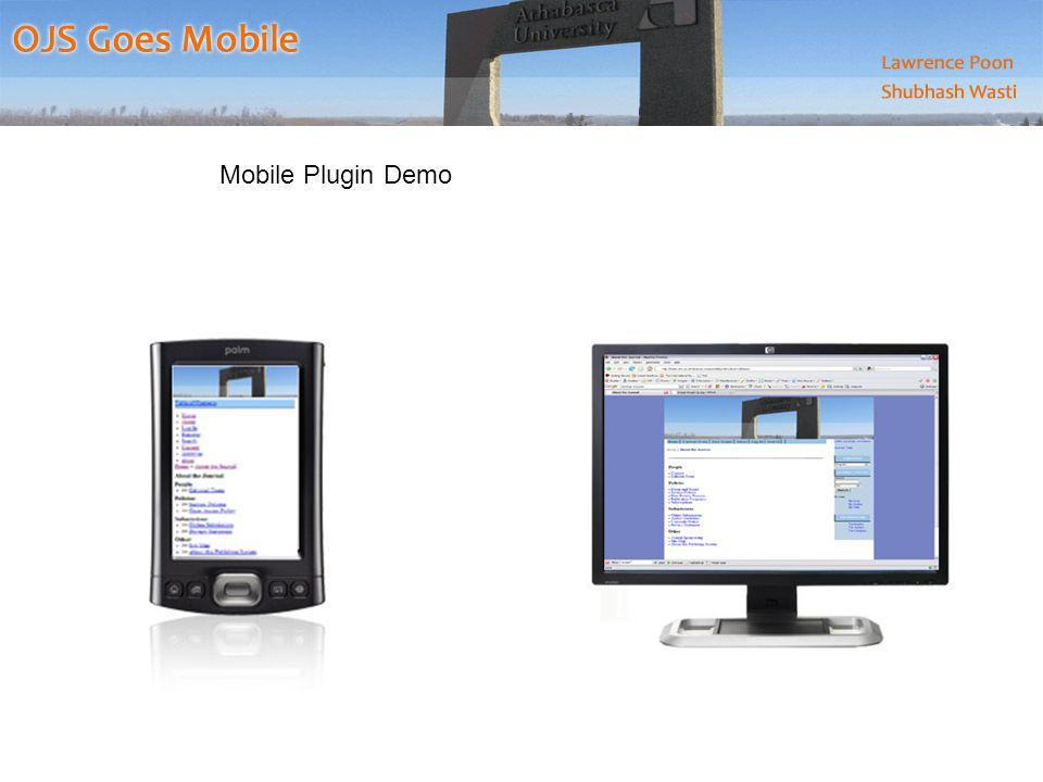 Mobile Plugin Demo