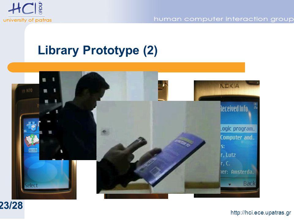 Library Prototype (2) 23/28 http://hci.ece.upatras.gr
