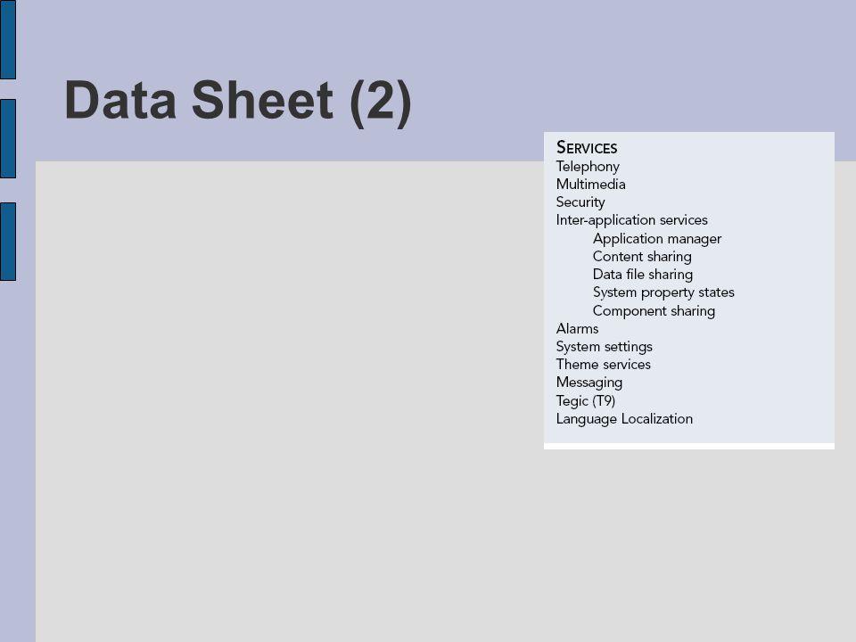 Data Sheet (2)