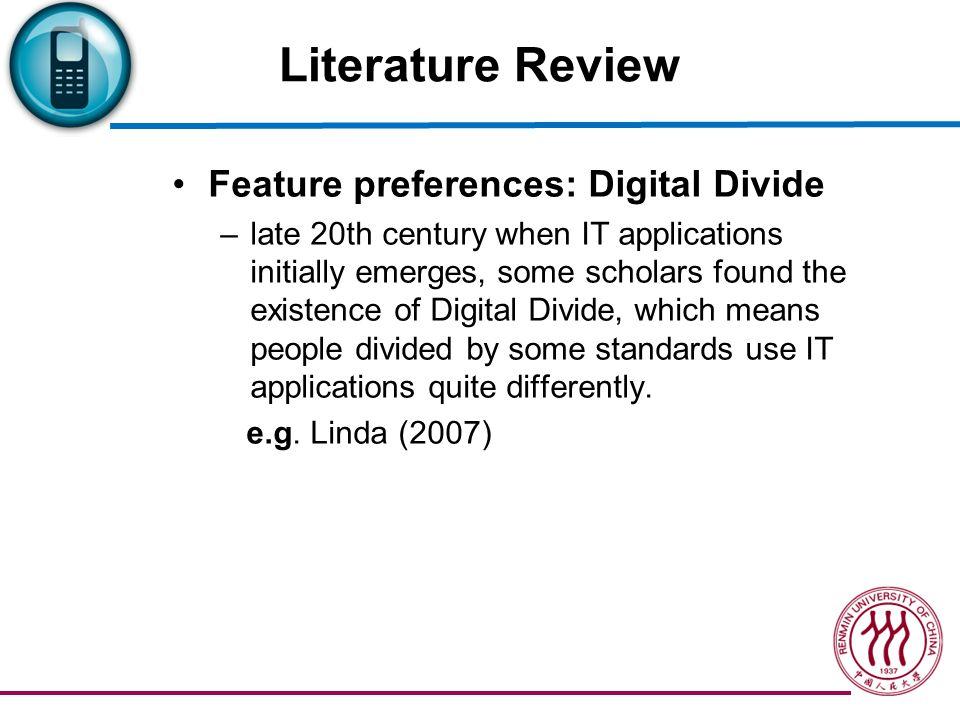 Literature Review Digital Divide of gender –Technology e.g.