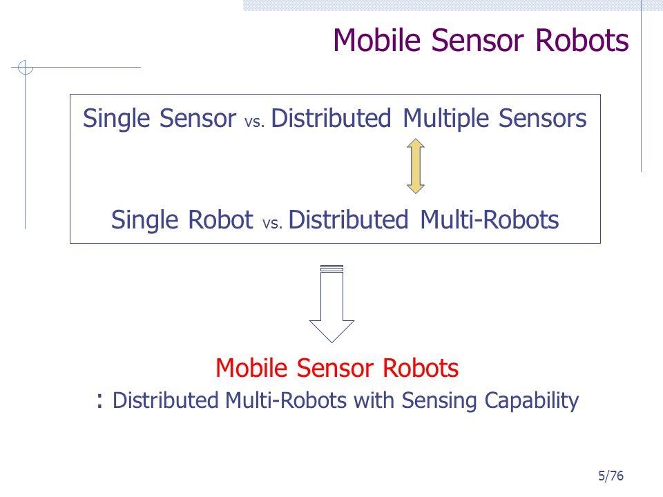 VEC (VECtor-based) The execution of VEC 35 sensors / 50m x 50m / random deployment Coverage : 75.7% -> 92.2% -> 94.7% 66/76