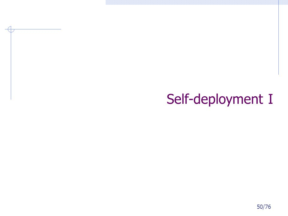 Self-deployment I 50/76