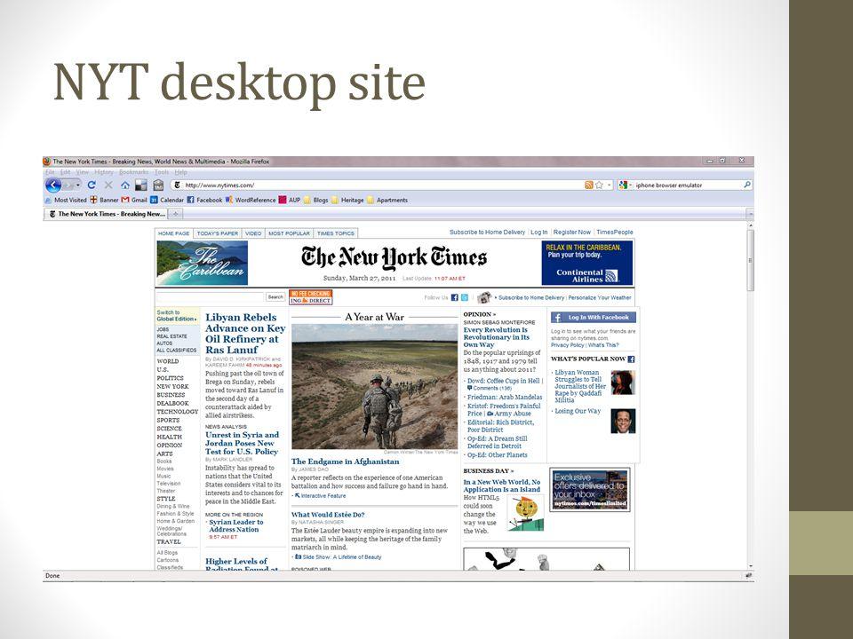 NYT desktop site