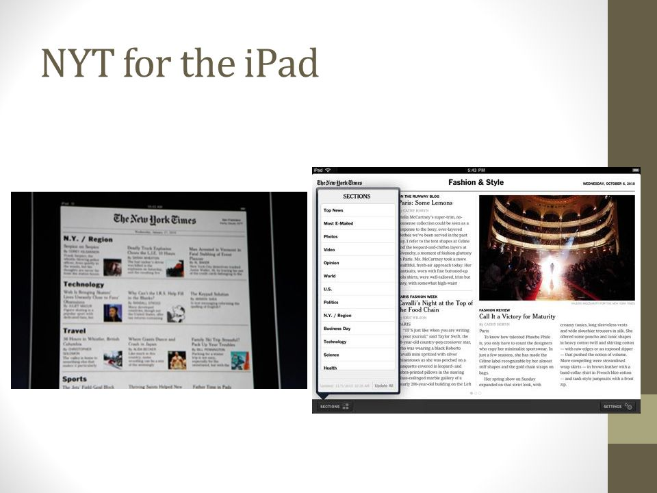 NYT for the iPad