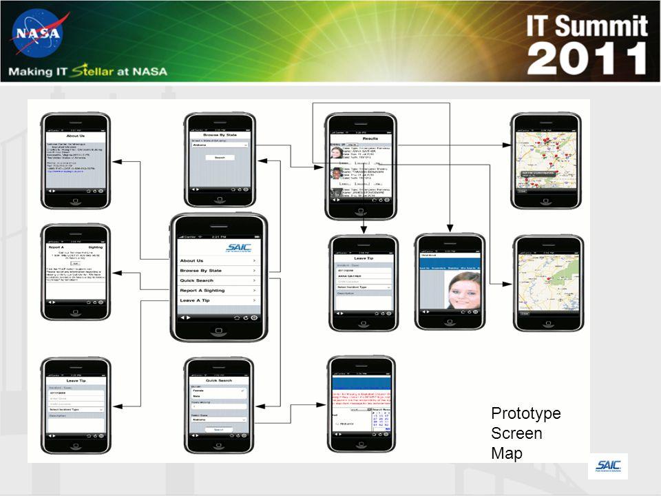 Prototype Screen Map
