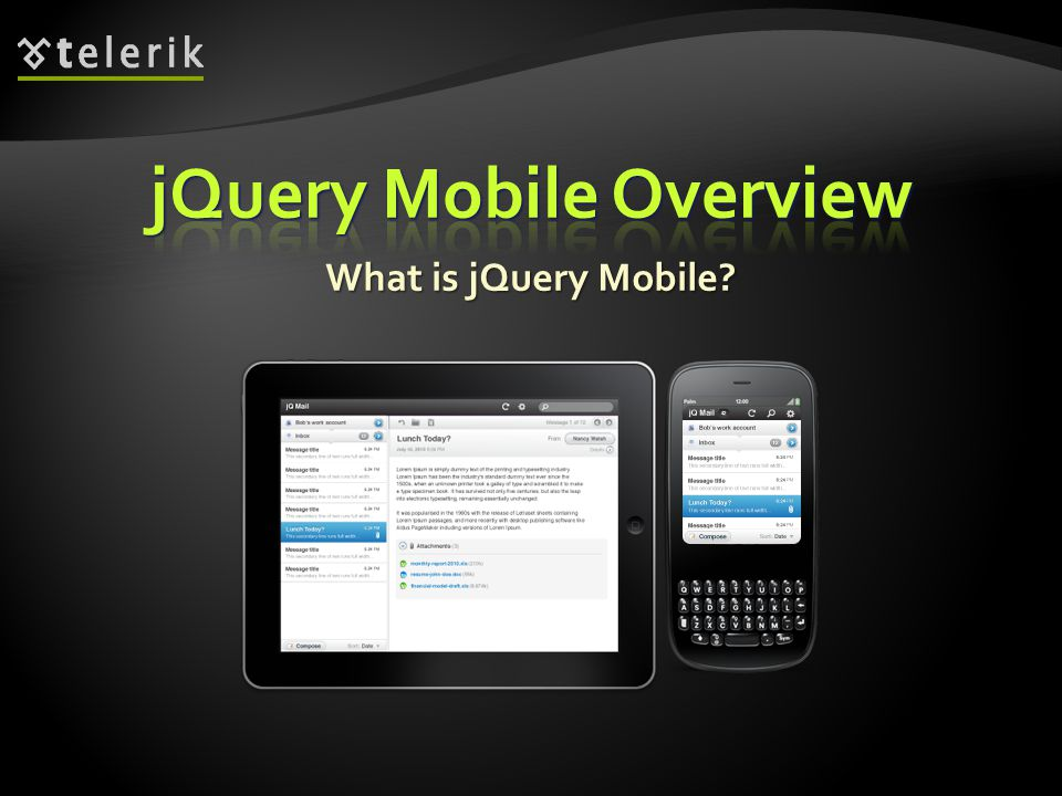 What does jQuery Mobile do.What does jQuery Mobile do.