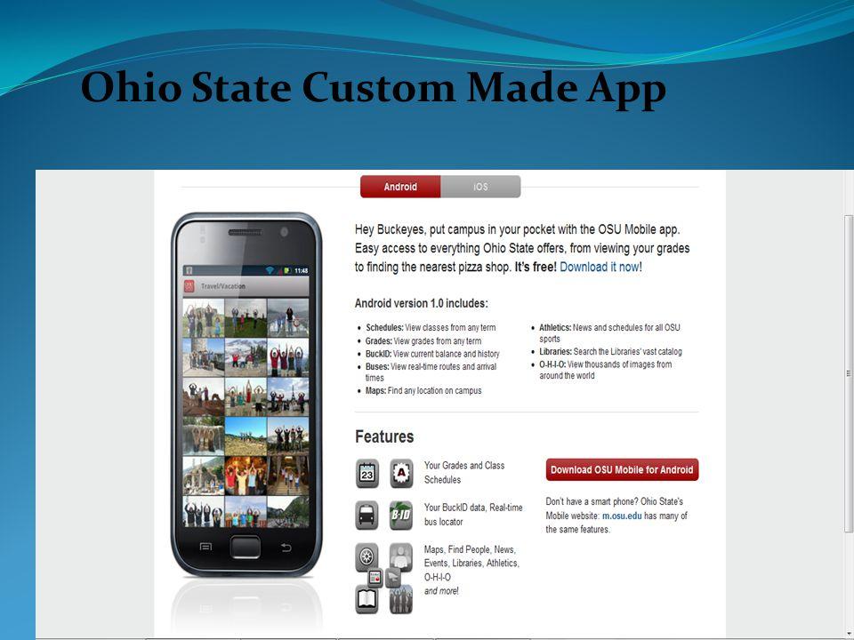 Ohio State Custom Made App