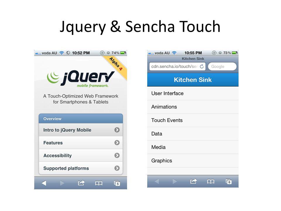 Jquery & Sencha Touch