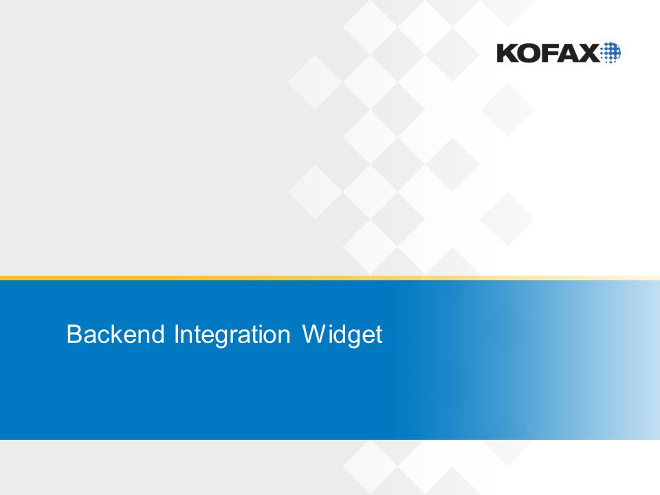 Backend Integration Widget