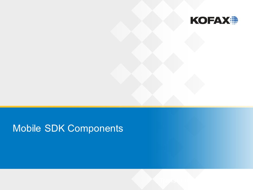 Mobile SDK Classes KMCConfigurationModel: all configuration settings for Mobile SDK Configure capture, image processing, case management KFSModel: represents Kofax Front Office Server (KFS) Manage case definitions, KFS login, create new KFS cases KMCKfsCase: create and manage KFS cases Programmatically update KFS case; selectively use KMC screens KMCNonKfsCase: create and manage non-KFS cases User defines own case type, provides own submit function KMCEvrsCollection: capture and process images only No case management used 17