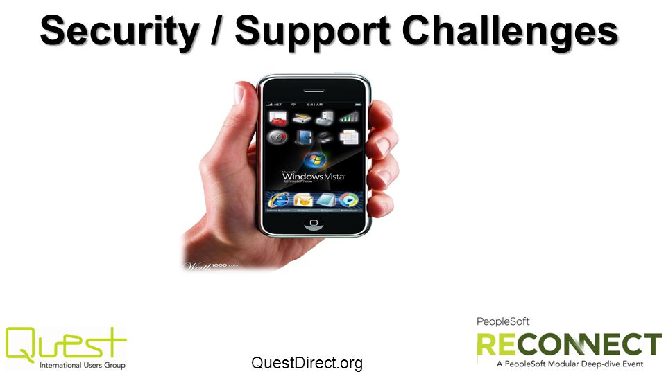 QuestDirect.org Security / Support Challenges