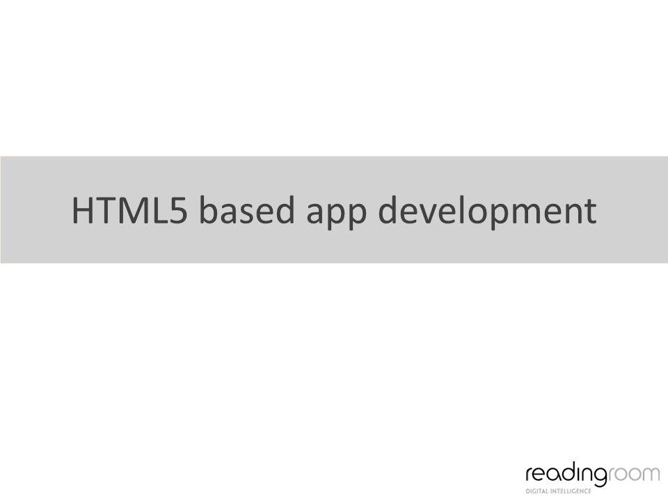 HTML5 based app development