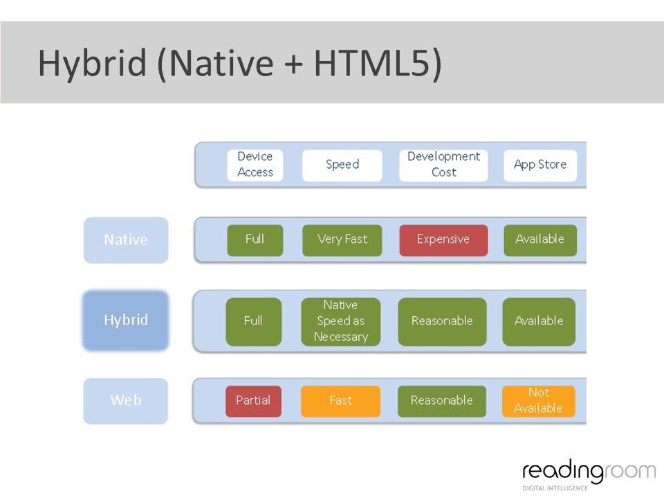 Hybrid (Native + HTML5)