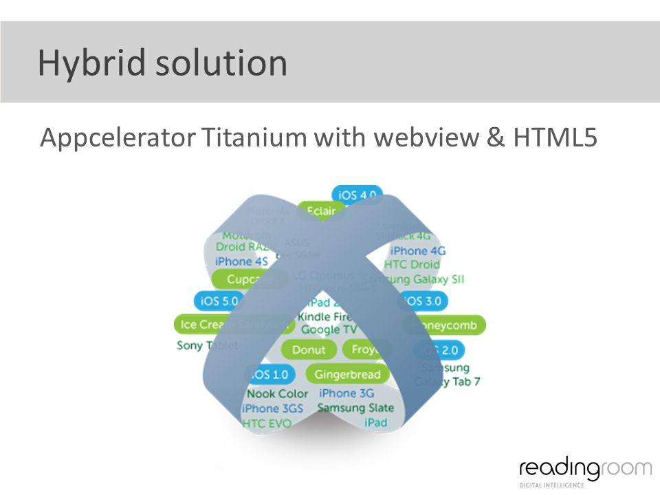 Hybrid solution Appcelerator Titanium with webview & HTML5